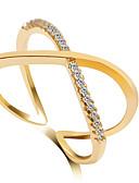 povoljno Haljine za male djeveruše-Žene Band Ring Prsten Izjave Srebro Zlatan Zlato / Pink Legura Vjenčanje Party Jewelry crossover