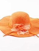 abordables Sombreros de mujer-Mujer Lino Sombrero para el sol - Vacaciones Un Color