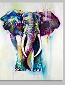 זול בלייזרים וחליפות לגברים-ציור שמן צבוע-Hang מצויר ביד - אומנות פופ קלסי סגנון ארופאי מודרני בַּד