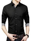 cheap Men's Shirts-Men's Plus Size Cotton Shirt - Solid Colored Classic Collar