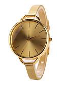 baratos Relógios da Moda-Mulheres Relógio de Pulso Relógio Casual Aço Inoxidável Banda Fashion / Minimalista Prata / Dourada / Um ano / Tianqiu 377