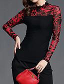 ieftine Bluze & Camisole Femei-Pentru femei Stand Bluză Ieșire Floral / Peteci Dantelă / Plasă / Toamnă