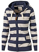 cheap Women's Hoodies & Sweatshirts-Women's Basic Hoodie - Striped / Fall