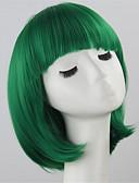 billige Herreklokker-Syntetiske parykker Dame Rett Grønn Bobfrisyre Syntetisk hår Grønn Parykk Kort Lokkløs Grønn