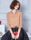 preiswerte Hemd-Damen Solide Hemd, Hemdkragen