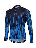 hesapli Erkek Tişörtleri ve Atletleri-Fastcute Erkek Kadın's Uzun Kollu Bisiklet Forması Büyük Bedenler Bisiklet Sweatshirt Forma Üstler Nefes Alabilir Hızlı Kuruma Yansıtıcı çizgili Spor Dalları Coolmax® %100 Polyester Da / Streç
