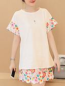 baratos Acessórios de Moda-Mulheres Activo Camiseta - Estampado Calça