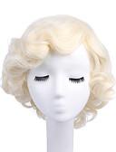 abordables Vestidos de Mujeres-Pelucas sintéticas / Pelucas de Broma Rizado Rubio Pelo sintético Rubio Peluca Mujer Sin Tapa Blonde StrongBeauty