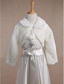 Χαμηλού Κόστους Λουλουδάτα φορέματα για κορίτσια-Μακρυμάνικο Ψεύτικη Γούνα Γάμου / Πάρτι / Βράδυ / Causal Παιδικές Εσάρπες Με Που καλύπτει Μπολερό