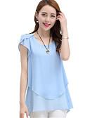 abordables Camisas y Camisetas para Mujer-Mujer Volante Blusa Un Color / Verano