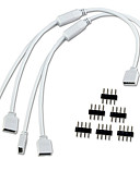 preiswerte Modische Accessoires-2 teile / los 1 zu 2 ports weiblich anschluss kabel 4 pin splitter für led farbwechsel streifen lichter erhalten frei 6 stücke pins
