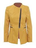cheap Women's Blazers-Women's Cotton Jacket - Solid Colored