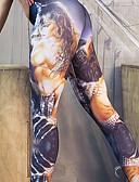 preiswerte Sexy Körper-Damen Bedruckt Legging - Einfarbig Mittlere Taillenlinie
