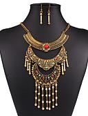 baratos Tops Femininos-Mulheres Conjunto de jóias - Vintage, Europeu, Fashion Incluir Colar / Brincos Dourado / Prata Para Casamento / Festa / Diário / Colares