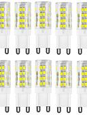 olcso Női hálóruházat-HKV 10pcs 4 W 400-500 lm G9 LED betűzős izzók T 51 led SMD 2835 Vízálló Dekoratív Meleg fehér Hideg fehér AC 220-240V