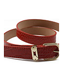 cheap Fashion Belts-Women's Dress Belt Alloy Skinny Belt - Solid Colored Shiny Metallic Fashion