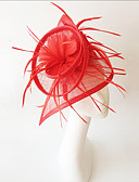 cheap Vintage Dresses-Flax / Feather Fascinators with 1 Wedding / Special Occasion Headpiece