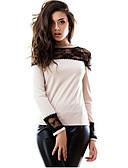 preiswerte T-Shirt-Damen Patchwork T-shirt Spitze Baumwolle