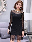 cheap Women's Dresses-Women's Plus Size Street chic Bodycon Lace Dress - Solid Colored, Lace Mesh