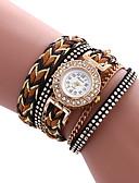 preiswerte Armband-Uhren-Damen Armband-Uhr Schlussverkauf / Cool / / PU Band Freizeit / Modisch Weiß / Blau / Rot