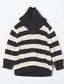 voordelige Meisjeskleding-Dagelijks Gestreept Katoen Herfst Trui & Vest Leger Groen