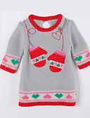 voordelige Meisjeskleding-Dagelijks Katoen Herfst Trui & Vest Lichtgrijs