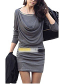 cheap Women's Dresses-Women's Sheath Dress - Solid Colored Ruched Mini