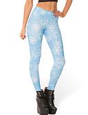 abordables Leggings para Mujer-Mujer Estampado Legging Estampado Media cintura / Pitillo