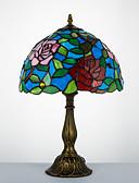 preiswerte Damen hosen-Tiffany Traditionell-Klassisch Bogen Schreibtischlampe Für Harz 110-120V 220-240V