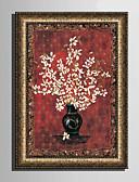 billige Fargerike chiffonskjerf-Innrammet Lerret Innrammet Sett Blomstret/Botanisk Veggkunst, PVC Materiale med ramme Hjem Dekor Rammekunst Stue Soverom Kjøkken