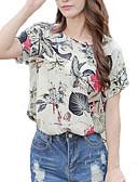 זול חולצה-סגנון רחוב ליציאה חולצה - בגדי ריקוד נשים עם רצועות איקס / דפוס