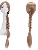 billige Skjerf til damer-Syntetiske parykker Dame Rett / Yaki Blond Med hestehale Syntetisk hår Blond Parykk Lokkløs Mørk blond