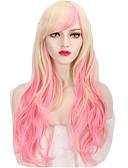 voordelige Jurken-Synthetische pruiken / Kostuum pruiken Golvend Synthetisch haar Roze Pruik Dames Lang