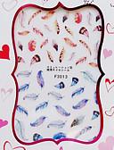 abordables Bufandas de Mujer-1 pcs Calcomanías de Uñas 3D arte de uñas Manicura pedicura Moda Diario / Pegatinas de uñas 3D