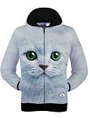 billige Hættetrøjer og sweatshirts til herrer-Herre Aktiv Langærmet Rund hals Hattetrøje Trykt mønster