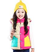 halpa Tyttöjen vaatteet-Tyttöjen Patchwork Höyhen- ja puuvillatopattu Päivittäin Polyesteri Kevät Syksy Pitkähihainen Keltainen Fuksia