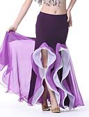 Χαμηλού Κόστους Ρούχα χορού της κοιλιάς-Χορός της κοιλιάς Παντελόνια Φούστες Επίδοση Διαφανές βαμβάκι Βολάν Αμάνικο Χαμηλή Μέση Φούστα