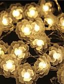 baratos Corpetes-5m Cordões de Luzes 40 LEDs LED Dip Branco Quente Controlo Remoto / Regulável / Impermeável 5 V / Conetável / Cores Variáveis / IP44