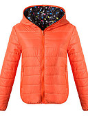 cheap Women's Downs & Parkas-Women's Padded - Solid Colored Hooded