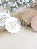"""voordelige Stickers, labels & tags-rustieke Theme Stickers, Labels & Tags - 100 1¾ """" Scallop Labels Tags Stickers"""