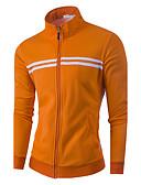 billige Hettegensere og gensere til herrer-Herre Sport Grunnleggende Høy krage Langermet Hoodie Jacket Stripet