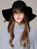 billige Hatter til damer-Dame Vintage Bøttehatt Ensfarget Ull Fuksia Kamel Marineblå