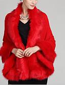 baratos Trench Coats e Casacos Femininos-Mulheres Terno Feriado Vintage - Sólido Detalhes em Pêlo