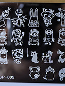 cheap Women's Skirts-new manicure template nail stamping plates cartoon characters designs image disc transfer print