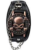 baratos Relógio Elegante-Homens Bracele Relógio / Relógio de Pulso Gravação Oca / Legal / Punk Lega Banda Amuleto / Vintage / Casual Preta