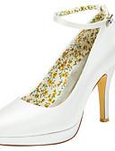 cheap Wedding Veils-Women's Shoes Stretch Satin Spring / Fall Heels Stiletto Heel / Platform Round Toe Buckle Royal Blue / Champagne / Ivory / Wedding