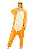 halpa Pluskokoiset mekot-Kigurumi-pyjama Lohikäärme Pyjamahaalarit Asu Velvet Mink Oranssi Cosplay varten Aikuisten Animal Sleepwear Sarjakuva Halloween