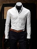 hesapli Erkek Gömlekleri-Erkek Pamuklu Gömlek Modern Stil, Solid