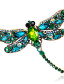 cheap Quartz Watches-Women's Brooches - Crystal Ladies, Fashion Brooch Jewelry Red / Green / Blue For Wedding / Party / Daily / Casual