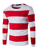 baratos Camisetas & Regatas Masculinas-Homens Tamanhos Grandes Camiseta - Esportes Listrado Estampa Colorida Algodão Decote Redondo
